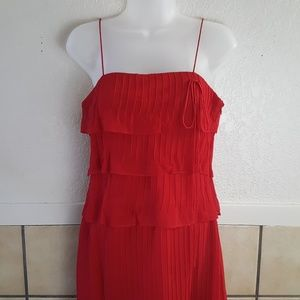 Laundry By Shelli Segal red spaghetti strap dress